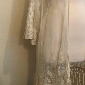 Tops - Cream Kimono